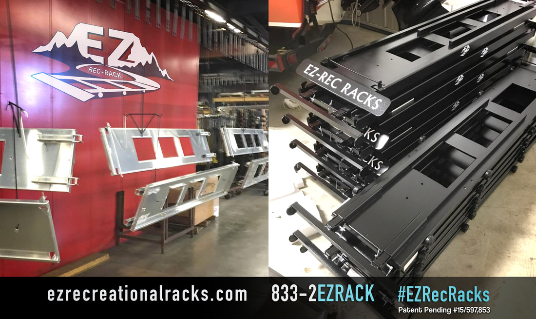 EZ Rack, production, kayak rack, roof rack,  cargo rack, cargo carrier, kayak cradle, kayak carrier