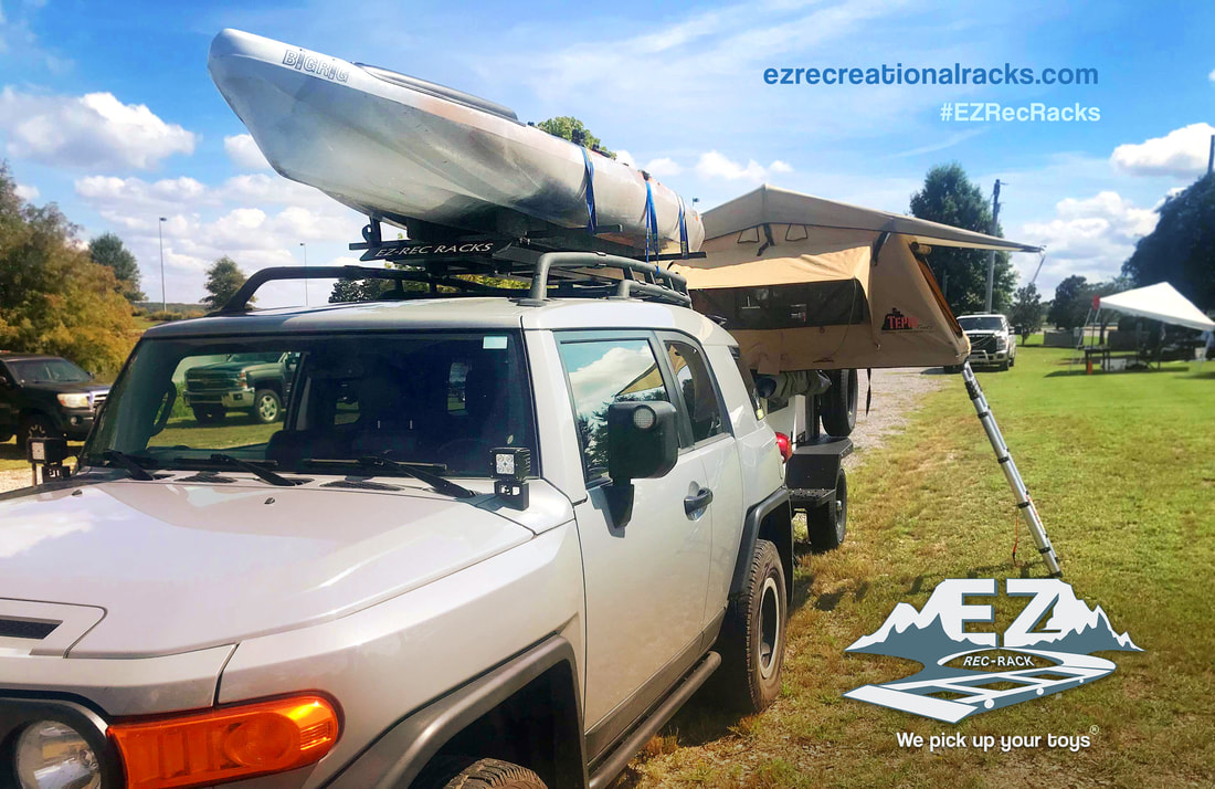 EZ Rack, rec rack, roof rack, kayak rack, cargo rack, roof rack system, camping, kayak, outdoors