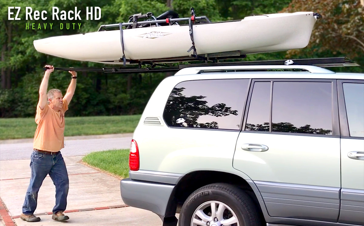Kayak Roof Rack For Cars >> Best Roof Top Loading Systems For Kayaks Ez Rec Rack Hd