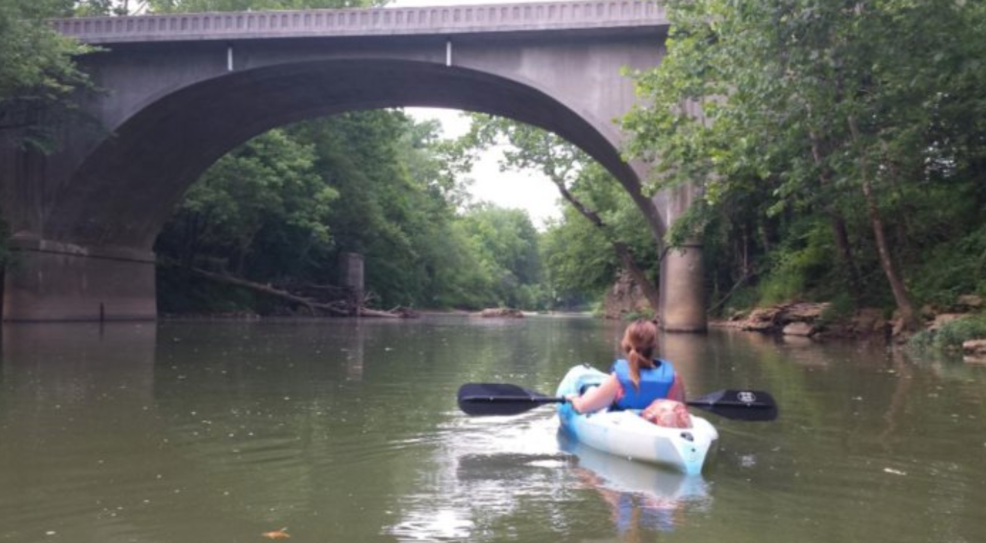 river, kayaking, paddling, canoe, indiana, bridge, adventure